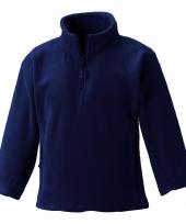 Basis navy blauwe fleece truien meisjeskleding