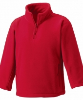 Basis rode fleece truien jongenskleding