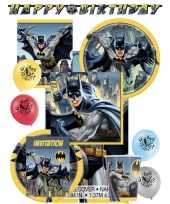 Batman kinderfeest themafeest pakket 8 personen