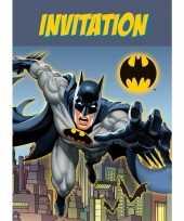 Batman thema uitnodigingen 8 stuks