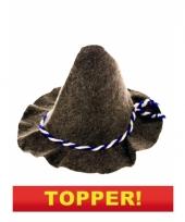 Bayernhoed met gevlochten touw 10049665