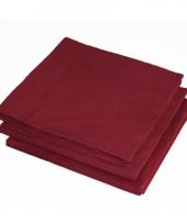 Bbq servetten bordeaux rode kleur 25 stuks