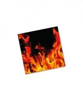 Bbq servetten met vlammen 20 st