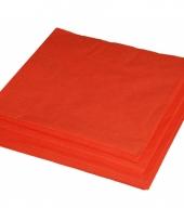 Bbq servetten oranje kleur 25 stuks