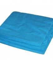 Bbq servetten turquoise kleur 25 stuks