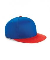 Beechfield baseballcap kobalt blauw