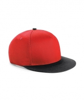 Beechfield baseballcap rood