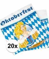 Beieren thema servetten 20 stuks