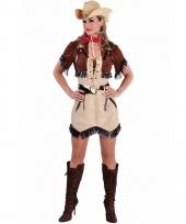 Beige cowgirl jurk met bolero voor dames