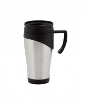 Beker thermos rvs 400 ml zwart