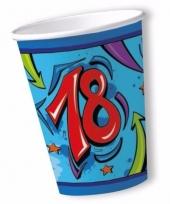 Bekers 18 jaar blauw 10x