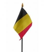 Belgie luxe zwaaivlaggetje polyester