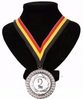 Belgie medaille nr 2 halslint geel rood zwart