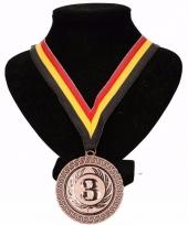 Belgie medaille nr 3 halslint geel rood zwart