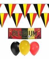 Belgie rode duivels supporter versiering pakket