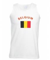 Belgie vlaggen tanktop t-shirt