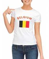Belgische vlaggen t-shirt voor dames