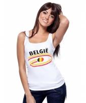 Belgische vlaggen tanktop voor dames