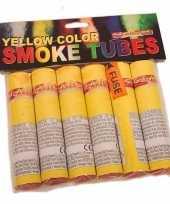 Bengaalse gele fakkels 6 stuks 45 60 sec