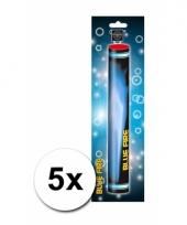 Bengaalse vuurwerk fakkels set blauw 5 x
