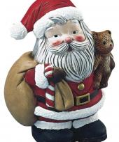 Beschilderbare kerstman van piepschuim 17 5 cm