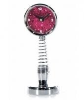 Bewegende spiraal klok roze