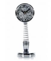 Bewegende spiraal klok zilver