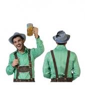 Bierfeest overhemd heren groen geruit