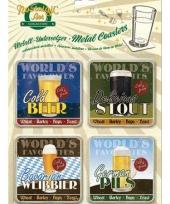 Biertjes onderzetters 9 x 9 cm