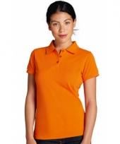 Big size dames poloshirt oranje