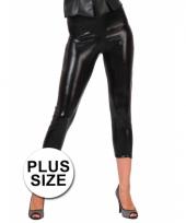 Big size glimmende zwarte legging