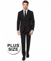 Big size heren kostuum zwart