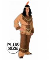 Big size kostuum indiaan