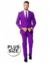 Big size kostuum paars