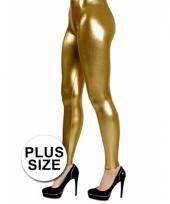 Big size legging goud