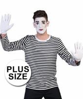 Big size mime thema shirt voor volwassenen