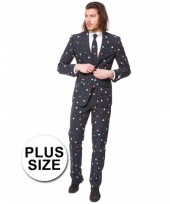 Big size pac man print kostuum
