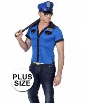 Big size politie shirt voor mannen