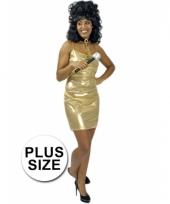 Big size verkleedjurkje goud