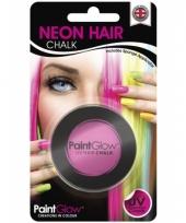 Blacklight roze haarkrijt