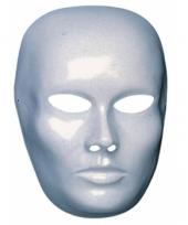 Blanco masker van dames gezicht
