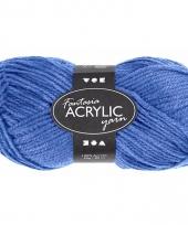 Blauw acryl 3 draads garen 80 meter