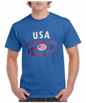 Blauw amerika shirt usa