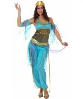 Blauw arabisch dames pakje