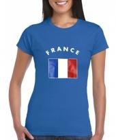Blauw dames shirtje met franse vlag 10041422
