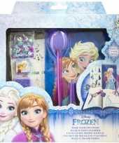 Blauw frozen anna elsa dagboekje zelf maken voor meisjes