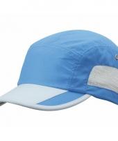 Blauw grijze sportieve pet voor volwassenen