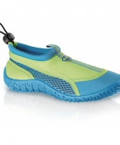 Blauw groene kids waterschoenen watersport