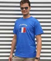Blauw heren shirtje met franse vlag 10041411