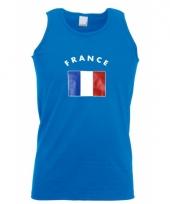 Blauw heren shirtje met franse vlag 10041531